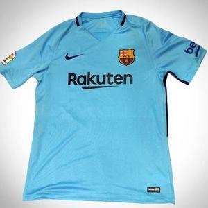 Messi Barcelona away blue jersey